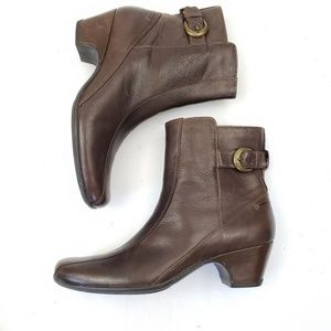 Clarks Artisan Leather Brown Ankle Botties Sz 12N